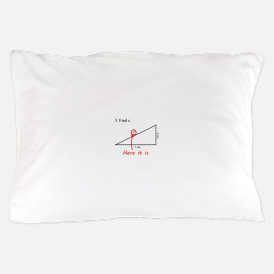 Find x Math Problem Pillow Case