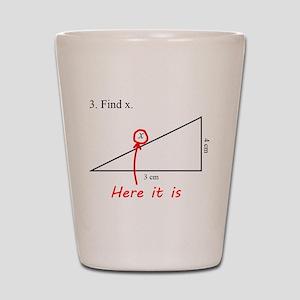 Find x Math Problem Shot Glass
