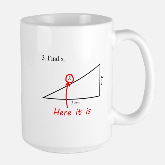 Find x Math Problem Large Mug