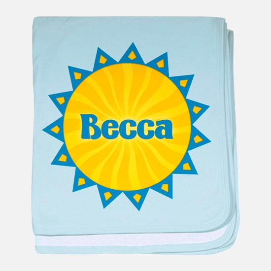 Becca Sunburst baby blanket