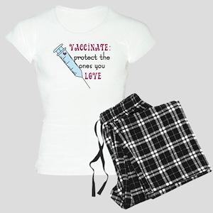 Vaccinate Women's Light Pajamas