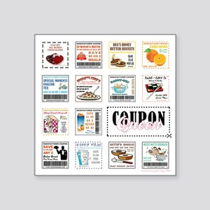 """COUPON QUEEN Square Sticker 3"""" x 3"""""""
