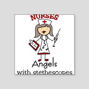 "Nurses Square Sticker 3"" x 3"""