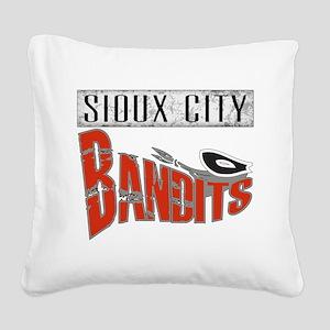 Sioux City Bandits Square Canvas Pillow
