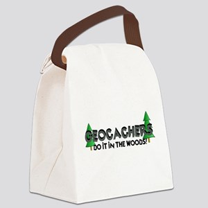 Geocachers Do It In The Woods Canvas Lunch Bag