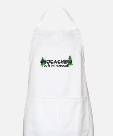 Geocachers Do It In The Woods Apron