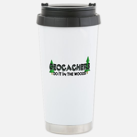 Geocachers Do It In The Woods Stainless Steel Trav