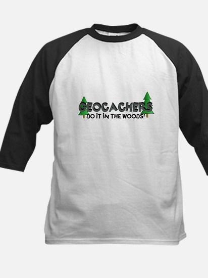 Geocachers Do It In The Woods Kids Baseball Jersey
