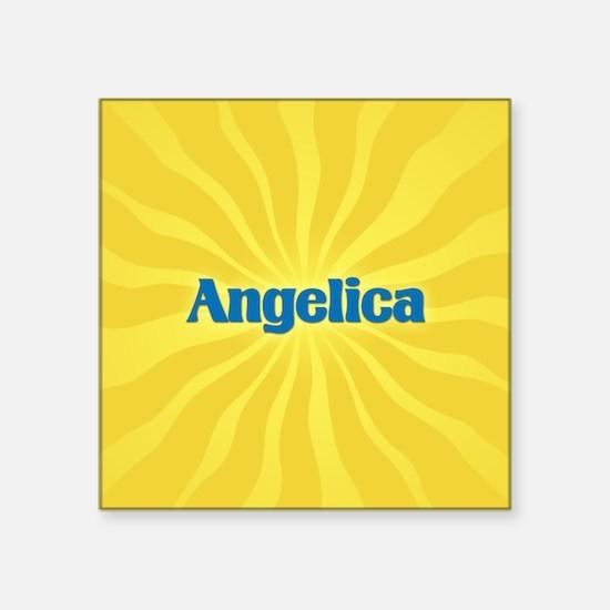 "Angelica Sunburst Square Sticker 3"" x 3"""
