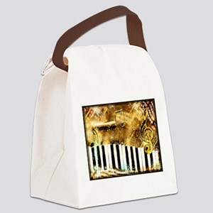 Musical Grunge Canvas Lunch Bag