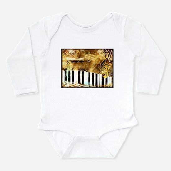 Musical Grunge Long Sleeve Infant Bodysuit