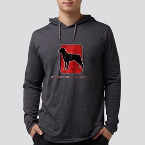 26-redsilhouette Mens Hooded Shirt