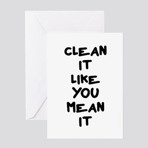 Funny weightlifting greeting cards cafepress mean clean greeting card m4hsunfo