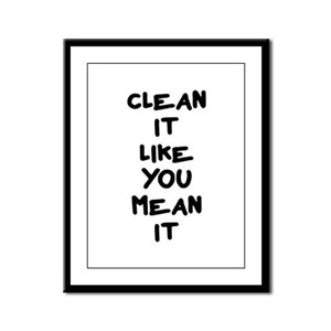 Mean Clean Framed Panel Print