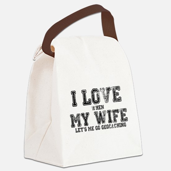 I Love My Wife Canvas Lunch Bag