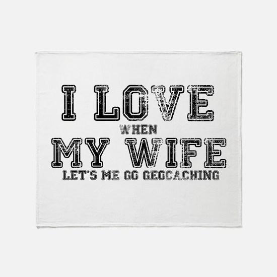 I Love My Wife Throw Blanket