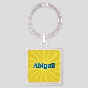 Abigail Sunburst Square Keychain