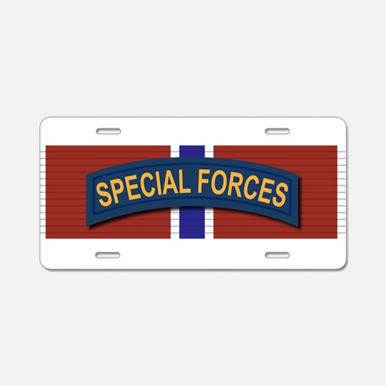 Special Forces Bronze Star Aluminum License Plate