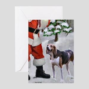 American Foxhound Christmas Greeting Card