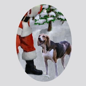American Foxhound Christmas Oval Ornament
