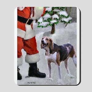 American Foxhound Christmas Mousepad