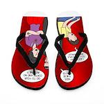 Vampire Generation Gap Flip Flops