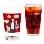 Vampire Generation Gap Drinking Glass