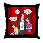 Vampire Generation Gap Throw Pillow