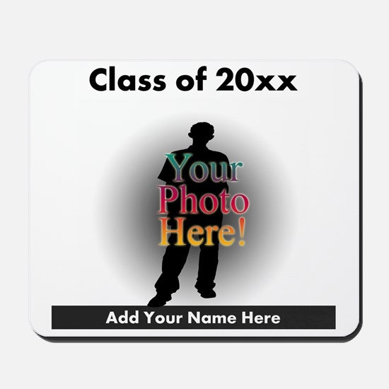 Custom Class of Graduation Photo/Name Mousepad