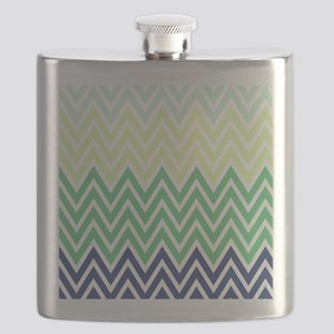 Classy chevron stripes Flask