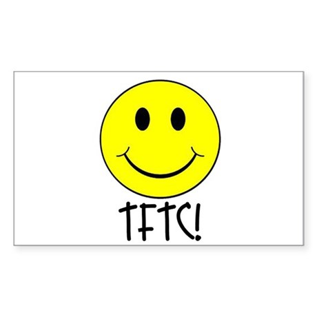 TFTC with Smiley Sticker (Rectangle)