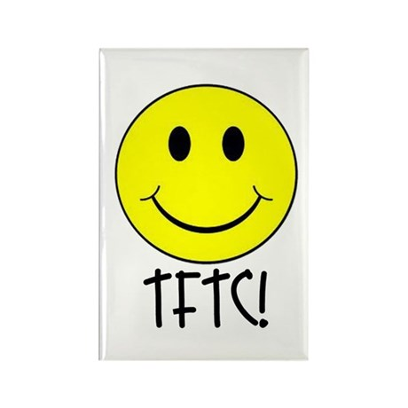 TFTC with Smiley Rectangle Magnet