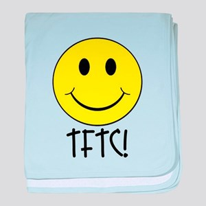 TFTC with Smiley baby blanket