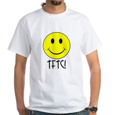 TFTC with Smiley White T-Shirt