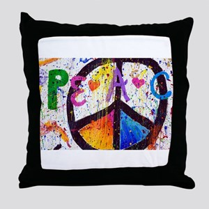 Love and Peace and Children Throw Pillow