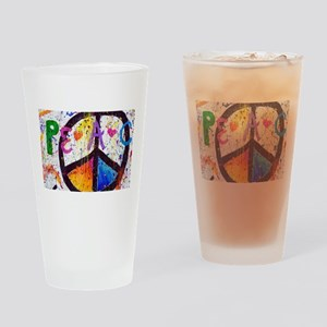 Love and Peace and Children Drinking Glass