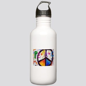 Love and Peace and Children Stainless Water Bottle