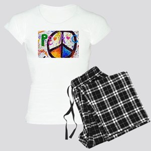 Love and Peace and Children Women's Light Pajamas