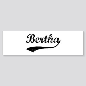 Vintage: Bertha Bumper Sticker