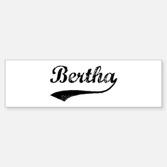 Vintage: Bertha Bumper Bumper Bumper Sticker