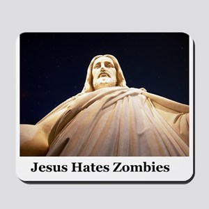 Jesus Hates Zombies Mousepad
