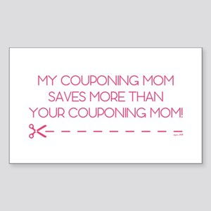 MY COUPONING MOM... Sticker (Rectangle)