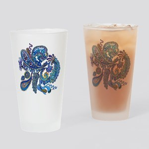 Wild Paisley Drinking Glass