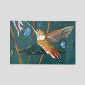 Hummingbird gold Rectangle Magnet