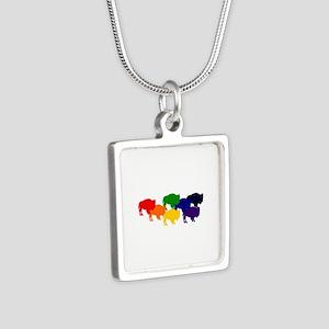 buffalopride Silver Square Necklace
