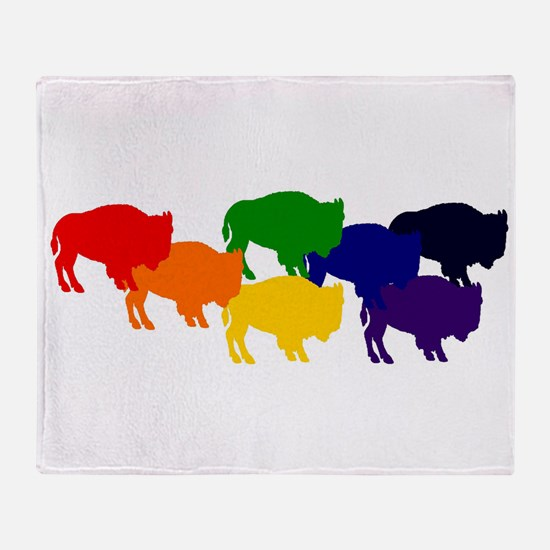 buffalopride Throw Blanket