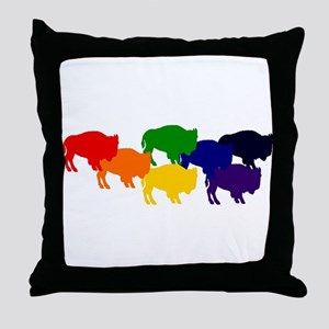 buffalopride Throw Pillow