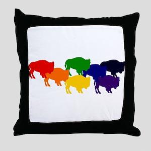 buffalopride Throw Pillow