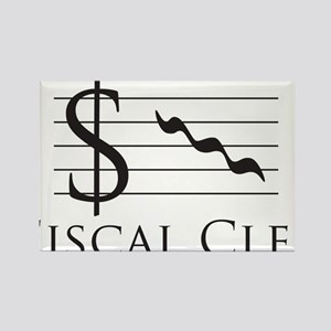 Fiscal Clef Rectangle Magnet
