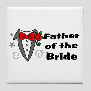 Father Of Bride Tile Coaster